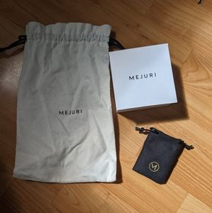 2/$20 Mejuri jewelry packaging - box and 2 pouches